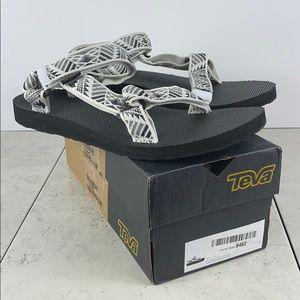 Teva Original Universal Sandals White/Black Sz 10